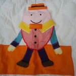 Baby Throw of one favourite Mother Goose Nursery Rhymes: Humpty Dumpty sat 0n a Wall..