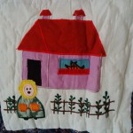 Baby Throw of one favourite Mother Goose Nursery Rhymes: Mary Mary Quite Contrary.
