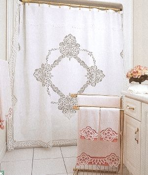 elite battenburg lace white cotton shower curtain the lace and