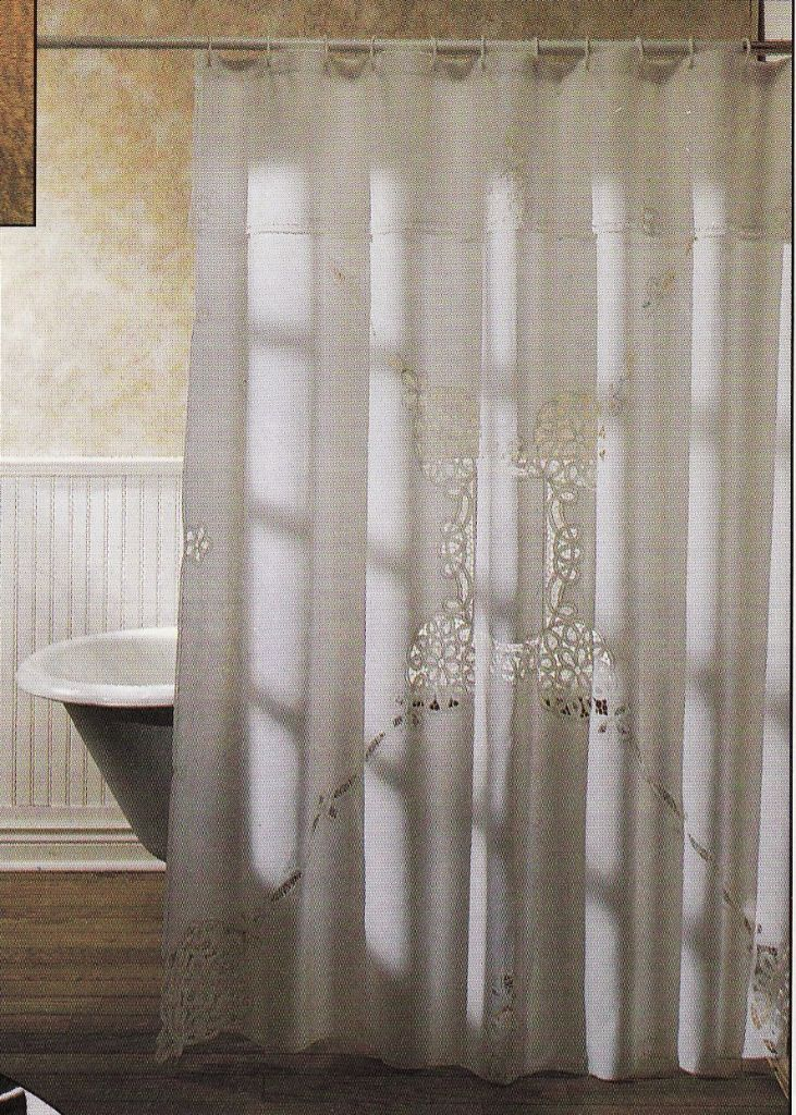 SIMPLY BATTENBURG LACE SHOWER CURTAIN
