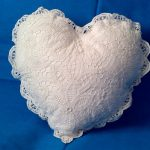 Solid Battenburg Lace Heart cushion cover is unique in hand made details.