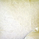 Pure White Cotton Solid Battenburg Lace pillows in Euro or Continental size- 26 square