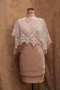Solid Tatting Lace poncho top.Tatted Roses with Celtic Cross edging. The Victorian Lace poncho top is signature hand made.