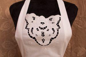 Cotton Cut work Medallion full length apron.
