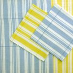 Light Ticking stripes Picnic tablecloths