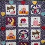 Hand made Mother Goose Nursery Rhymes Baby Quilt or wall hanging.