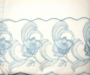Royal Garden cotton embroidered sheet and pillow complete set Twin-Double Queen King
