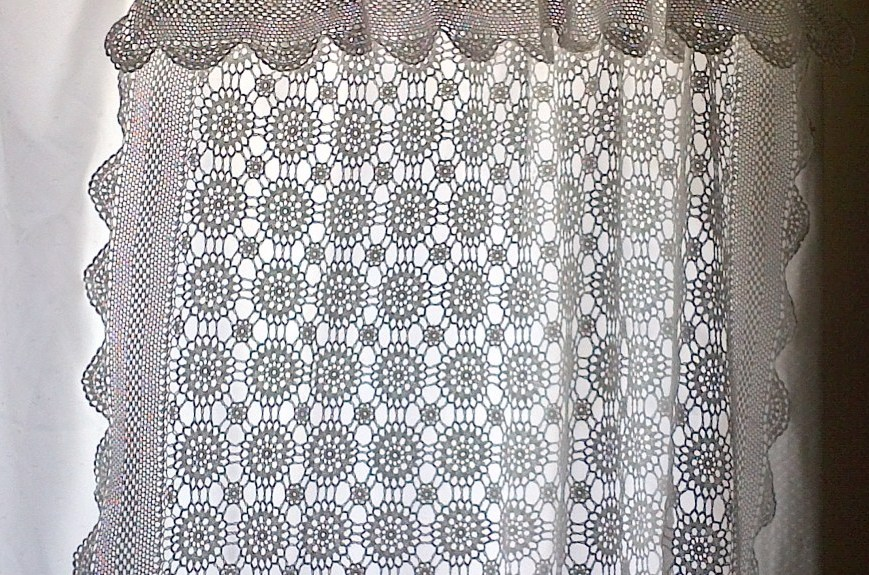 ELEGANCE KATE HAND CROCHETED LACE : DIY CURTAIN PANEL FOR WINDOW | The ...