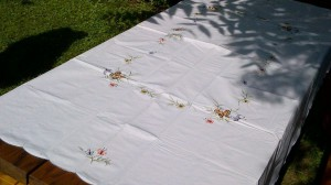 Meadow Butterfly tablecloth is ideal for outdoor entertaining