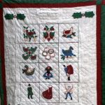Twelve days of Christmas quilted wall hanging