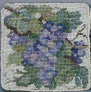 Needlepoint Square Tea Coasters 100% Wool hand stitched Petit Point Tapestry.
