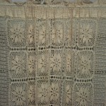 Handmade Cotton Crochet Lace Tablecloth- DIY Curtain Panel- Ecru or White Colour