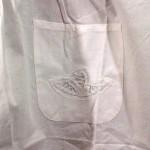 Elite Battenburg Lace Victorian style bib apron pocket detail.