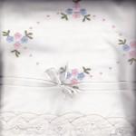 Petit Fleurs premium cotton top sheet with Batten Lace edge