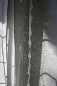 Starburst Punchwork curtain panel set