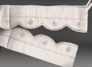 Close up mage of Starburst Punchwork tie-backs.