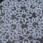 Solid Battenburg Lace handmade 100% Cotton pure and white square
