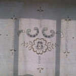 Design #2 Hemstitch & Renaissance Cut work panel for window or door