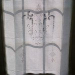 Design #3 Hemstitch & Renaissance Cut work panel for window or door