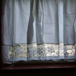 Tuscany Roses lace trim curtain panel