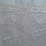 Renaissance Lace and Broderie Anglaise Cotton Duvet Cover