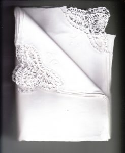 A Touch of Cluny Lace corner napkins premium quality White