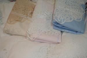 Cotton Battenburg Lace trim bed sheet set