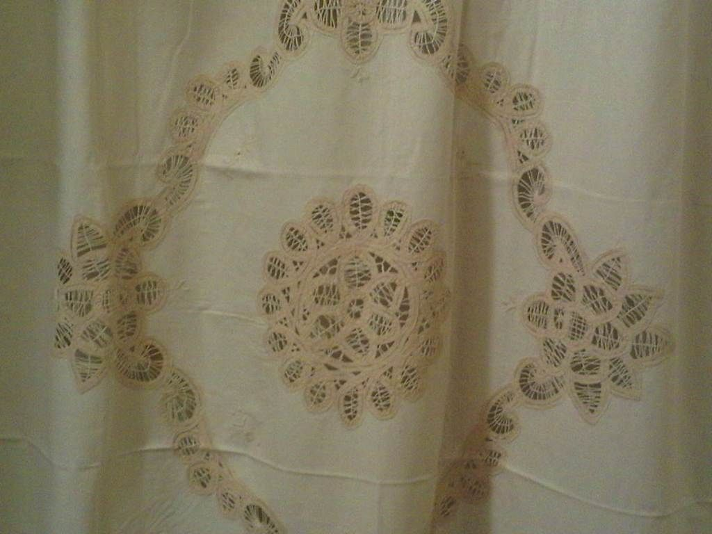 Lace Shower Curtain Battenburg Full Edge Embroider Cotton The And Linens Co