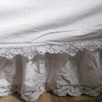 Butterfly Cluny Lace Bed skirt is subtle and elegant