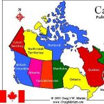 The Map of Canada: 10 provinces and 3 Territories.
