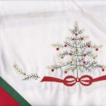 Embroidered Charlie Brown Christmas Tree in close up