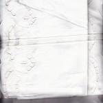 Cut work Tulips feature a more contemporary design, white natural fibre quality Cotton sheet set