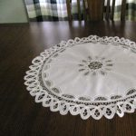"""Simple and Elegant for the lovers of Battenburg Lace in a contemporary setting. 24"""" Round"""