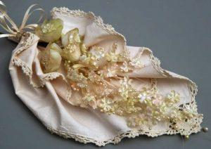 Wedding Bridal Flower Bouquet Lace Wrap Cream Cotton Crochet Lace trim Napkin 12 square