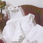 Elite Battenburg Lace Waist Apron and Full Bib apron.