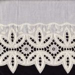 Elegant Filligree Lace of 5.5 inches wide trim in flat sheets or cases.