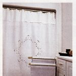 Flower Basket shower curtain with a hint of colour