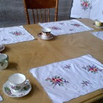Harvest Fruit embroidered place mats