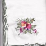 Harvest Fruit embroidered cotton dinner size napkins