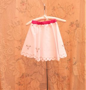 Girl's Swing skirt, full circle skirt 1950's style. Embroidered PetitFleur sweet little flowers add charm & contemporary appeal.