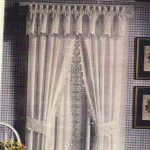 Eyelet Lace wide 6 inches trim curtain panel set