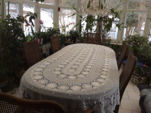 Beautifully Hand Crocheted Tablecloths In Quality Cotton Thread Are Custom  Designed For Table Shapes In Square, Round, Rectangular Or Oval, 16 Ecru  Sizes ...