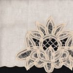 Lotus Batten Lace Guest-Towels- Ecru colour only.
