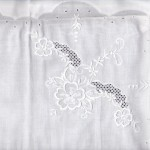 Madeira Embroidered Morning Glory Lace Oxford Cases in premium quality Cotton