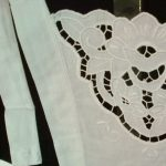 Cotton Cut work Medallion full length apron.