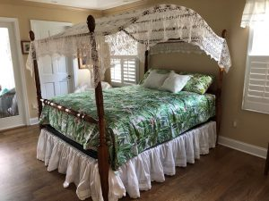 An elegant Windmill Crochet Lace bed cover that can be transformed into a beautiful canopy.