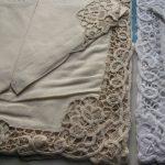 Royal Battenburg Lace Linen/cotton place mat and matching napkin 2p set
