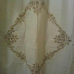 Simply Battenburg Lace shower Curtain is beautifully designed. Great for monogram.