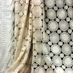 Snowflake crochet Lace bed cover