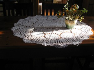 ... Radiating Snowflake Crochet Lace In Round Shapes Is Beautifully  Designed Accordingly.